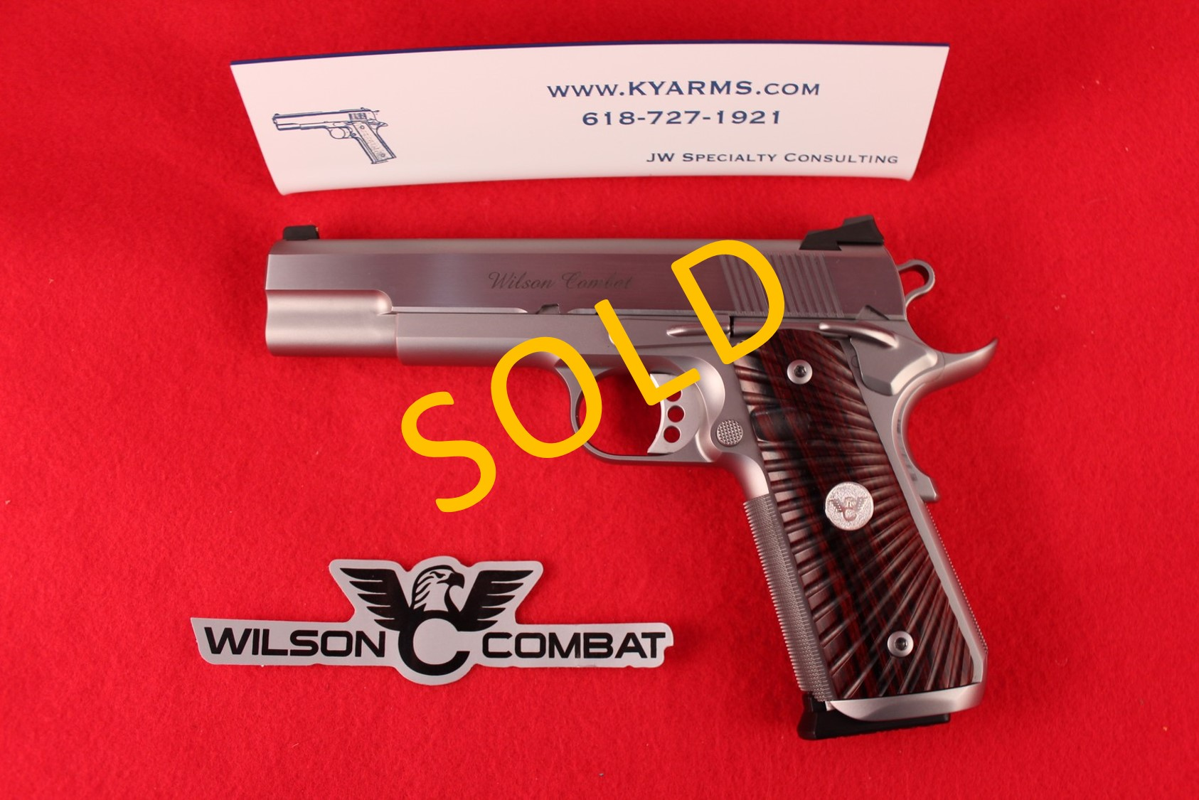Wilson Combat Tactical Supergrade  9MM Stainless WC23054